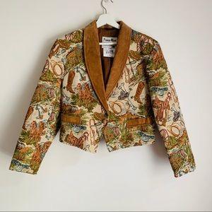 Pioneer Wear western tapestry suede jacket vintage